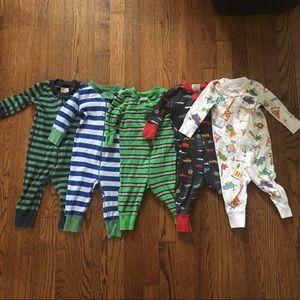 Hanna Andersson Pajamas - Lot of 5 Hanna Andersson Boys Sleeper Pajamas